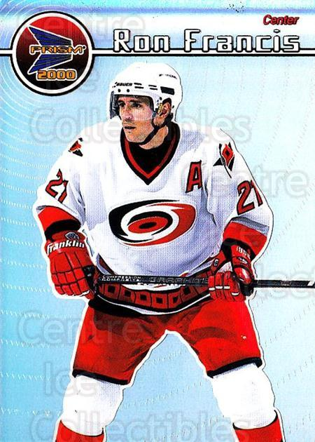 1999-00 Pacific Prism #28 Ron Francis<br/>4 In Stock - $1.00 each - <a href=https://centericecollectibles.foxycart.com/cart?name=1999-00%20Pacific%20Prism%20%2328%20Ron%20Francis...&quantity_max=4&price=$1.00&code=78127 class=foxycart> Buy it now! </a>