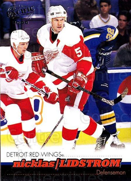 1999-00 Pacific #143 Nicklas Lidstrom<br/>4 In Stock - $1.00 each - <a href=https://centericecollectibles.foxycart.com/cart?name=1999-00%20Pacific%20%23143%20Nicklas%20Lidstro...&quantity_max=4&price=$1.00&code=78207 class=foxycart> Buy it now! </a>