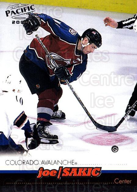1999-00 Pacific #115 Joe Sakic<br/>5 In Stock - $2.00 each - <a href=https://centericecollectibles.foxycart.com/cart?name=1999-00%20Pacific%20%23115%20Joe%20Sakic...&quantity_max=5&price=$2.00&code=78335 class=foxycart> Buy it now! </a>