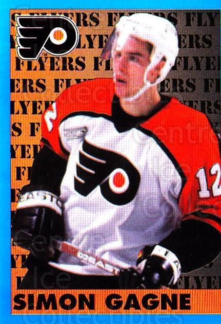 1999-00 Panini Stickers #129 Simon Gagne<br/>3 In Stock - $1.00 each - <a href=https://centericecollectibles.foxycart.com/cart?name=1999-00%20Panini%20Stickers%20%23129%20Simon%20Gagne...&quantity_max=3&price=$1.00&code=78465 class=foxycart> Buy it now! </a>