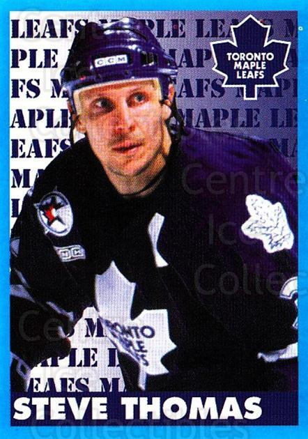 1999-00 Panini Stickers #154 Steve Thomas<br/>4 In Stock - $1.00 each - <a href=https://centericecollectibles.foxycart.com/cart?name=1999-00%20Panini%20Stickers%20%23154%20Steve%20Thomas...&quantity_max=4&price=$1.00&code=78488 class=foxycart> Buy it now! </a>