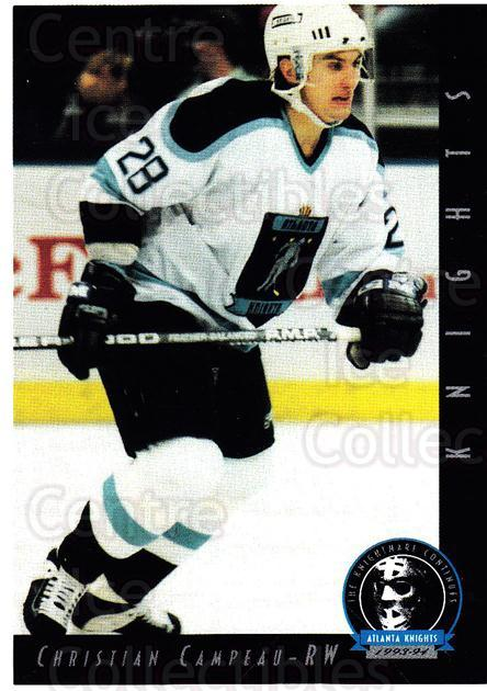 1993-94 Atlanta Knights #19 Christian Campeau<br/>1 In Stock - $3.00 each - <a href=https://centericecollectibles.foxycart.com/cart?name=1993-94%20Atlanta%20Knights%20%2319%20Christian%20Campe...&price=$3.00&code=7931 class=foxycart> Buy it now! </a>
