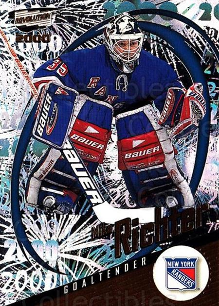 1999-00 Revolution #100 Mike Richter<br/>3 In Stock - $1.00 each - <a href=https://centericecollectibles.foxycart.com/cart?name=1999-00%20Revolution%20%23100%20Mike%20Richter...&quantity_max=3&price=$1.00&code=79535 class=foxycart> Buy it now! </a>