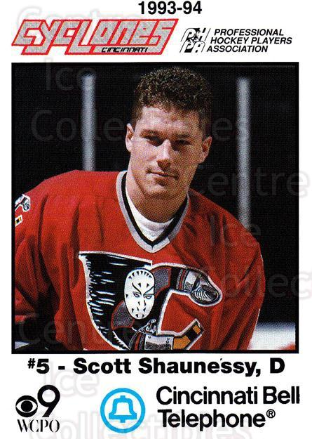 1993-94 Cincinnati Cyclones #23 Scott Shaunessy<br/>3 In Stock - $3.00 each - <a href=https://centericecollectibles.foxycart.com/cart?name=1993-94%20Cincinnati%20Cyclones%20%2323%20Scott%20Shaunessy...&quantity_max=3&price=$3.00&code=7954 class=foxycart> Buy it now! </a>