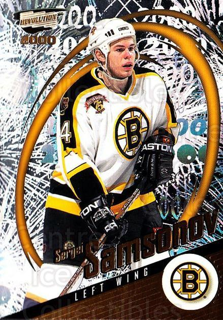 1999-00 Revolution #14 Sergei Samsonov<br/>4 In Stock - $1.00 each - <a href=https://centericecollectibles.foxycart.com/cart?name=1999-00%20Revolution%20%2314%20Sergei%20Samsonov...&quantity_max=4&price=$1.00&code=79575 class=foxycart> Buy it now! </a>