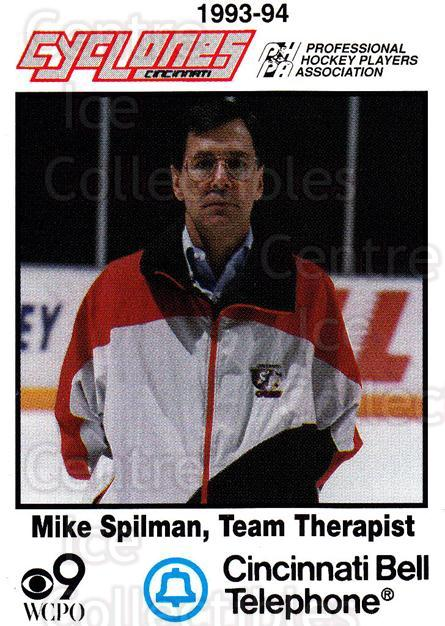 1993-94 Cincinnati Cyclones #29 Mike Spilman<br/>3 In Stock - $3.00 each - <a href=https://centericecollectibles.foxycart.com/cart?name=1993-94%20Cincinnati%20Cyclones%20%2329%20Mike%20Spilman...&quantity_max=3&price=$3.00&code=7959 class=foxycart> Buy it now! </a>