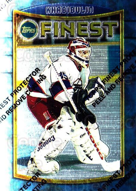 1994-95 Finest #27 Nikolai Khabibulin<br/>5 In Stock - $1.00 each - <a href=https://centericecollectibles.foxycart.com/cart?name=1994-95%20Finest%20%2327%20Nikolai%20Khabibu...&quantity_max=5&price=$1.00&code=795 class=foxycart> Buy it now! </a>