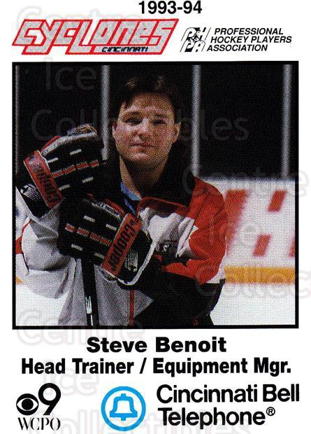 1993-94 Cincinnati Cyclones #30 Steve Benoit<br/>4 In Stock - $3.00 each - <a href=https://centericecollectibles.foxycart.com/cart?name=1993-94%20Cincinnati%20Cyclones%20%2330%20Steve%20Benoit...&quantity_max=4&price=$3.00&code=7961 class=foxycart> Buy it now! </a>
