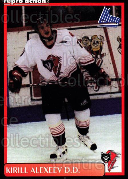 1999-00 Rouyn-Noranda Huskies #1 Kirill Alexeev<br/>5 In Stock - $3.00 each - <a href=https://centericecollectibles.foxycart.com/cart?name=1999-00%20Rouyn-Noranda%20Huskies%20%231%20Kirill%20Alexeev...&quantity_max=5&price=$3.00&code=79687 class=foxycart> Buy it now! </a>