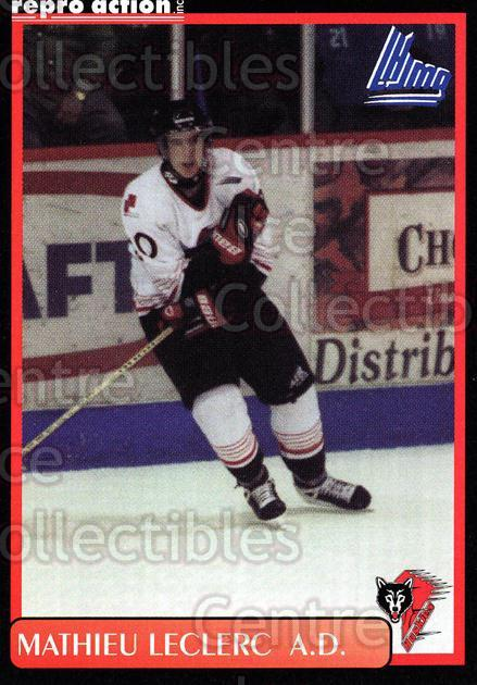 1999-00 Rouyn-Noranda Huskies #12 Mathieu Leclerc<br/>5 In Stock - $3.00 each - <a href=https://centericecollectibles.foxycart.com/cart?name=1999-00%20Rouyn-Noranda%20Huskies%20%2312%20Mathieu%20Leclerc...&quantity_max=5&price=$3.00&code=79690 class=foxycart> Buy it now! </a>