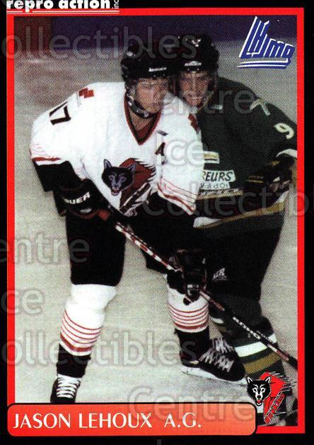 1999-00 Rouyn-Noranda Huskies #13 Jason Lehoux<br/>4 In Stock - $3.00 each - <a href=https://centericecollectibles.foxycart.com/cart?name=1999-00%20Rouyn-Noranda%20Huskies%20%2313%20Jason%20Lehoux...&quantity_max=4&price=$3.00&code=79691 class=foxycart> Buy it now! </a>