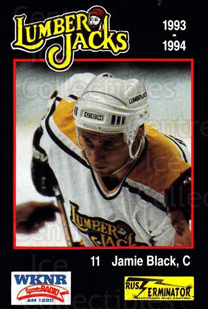1993-94 Cleveland Lumberjacks #10 Jamie Black<br/>5 In Stock - $3.00 each - <a href=https://centericecollectibles.foxycart.com/cart?name=1993-94%20Cleveland%20Lumberjacks%20%2310%20Jamie%20Black...&quantity_max=5&price=$3.00&code=7970 class=foxycart> Buy it now! </a>