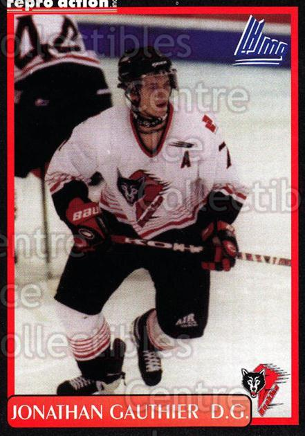 1999-00 Rouyn-Noranda Huskies #7 Jonathan Gauthier<br/>3 In Stock - $3.00 each - <a href=https://centericecollectibles.foxycart.com/cart?name=1999-00%20Rouyn-Noranda%20Huskies%20%237%20Jonathan%20Gauthi...&quantity_max=3&price=$3.00&code=79710 class=foxycart> Buy it now! </a>