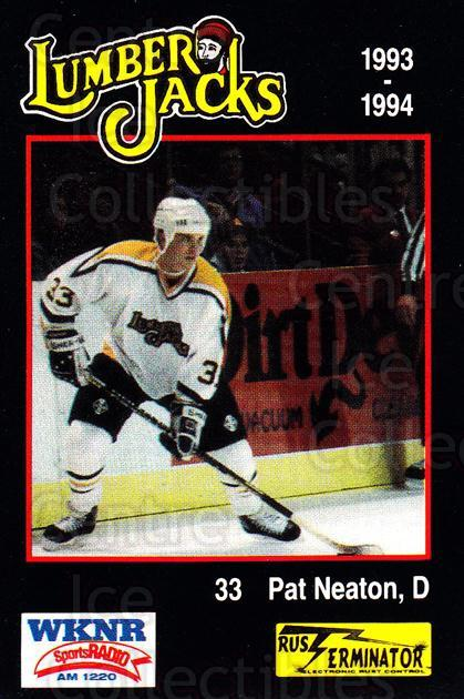 1993-94 Cleveland Lumberjacks #21 Pat Neaton<br/>4 In Stock - $3.00 each - <a href=https://centericecollectibles.foxycart.com/cart?name=1993-94%20Cleveland%20Lumberjacks%20%2321%20Pat%20Neaton...&quantity_max=4&price=$3.00&code=7980 class=foxycart> Buy it now! </a>