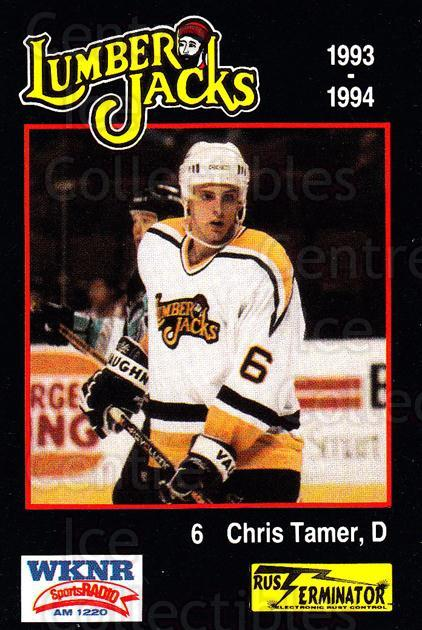 1993-94 Cleveland Lumberjacks #7 Chris Tamer<br/>4 In Stock - $3.00 each - <a href=https://centericecollectibles.foxycart.com/cart?name=1993-94%20Cleveland%20Lumberjacks%20%237%20Chris%20Tamer...&quantity_max=4&price=$3.00&code=7989 class=foxycart> Buy it now! </a>