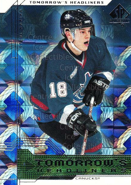 1999-00 SP Authentic Tomorrows Headliners #10 Steve Kariya<br/>11 In Stock - $2.00 each - <a href=https://centericecollectibles.foxycart.com/cart?name=1999-00%20SP%20Authentic%20Tomorrows%20Headliners%20%2310%20Steve%20Kariya...&quantity_max=11&price=$2.00&code=79993 class=foxycart> Buy it now! </a>