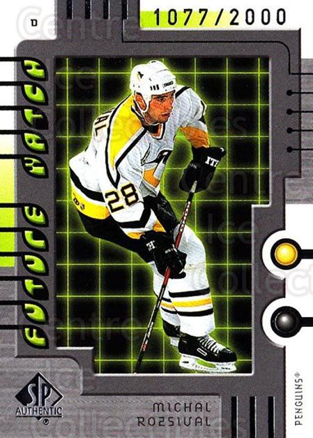 1999-00 SP Authentic #112 Michal Rozsival<br/>5 In Stock - $5.00 each - <a href=https://centericecollectibles.foxycart.com/cart?name=1999-00%20SP%20Authentic%20%23112%20Michal%20Rozsival...&price=$5.00&code=80006 class=foxycart> Buy it now! </a>
