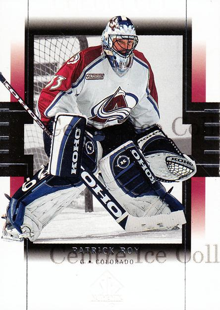 1999-00 SP Authentic #24 Patrick Roy<br/>7 In Stock - $3.00 each - <a href=https://centericecollectibles.foxycart.com/cart?name=1999-00%20SP%20Authentic%20%2324%20Patrick%20Roy...&price=$3.00&code=80024 class=foxycart> Buy it now! </a>