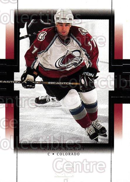 1999-00 SP Authentic #25 Chris Drury<br/>5 In Stock - $1.00 each - <a href=https://centericecollectibles.foxycart.com/cart?name=1999-00%20SP%20Authentic%20%2325%20Chris%20Drury...&price=$1.00&code=80025 class=foxycart> Buy it now! </a>