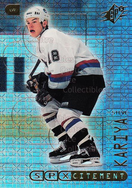1999-00 SPx SPXcitement #11 Steve Kariya<br/>22 In Stock - $2.00 each - <a href=https://centericecollectibles.foxycart.com/cart?name=1999-00%20SPx%20SPXcitement%20%2311%20Steve%20Kariya...&quantity_max=22&price=$2.00&code=80155 class=foxycart> Buy it now! </a>