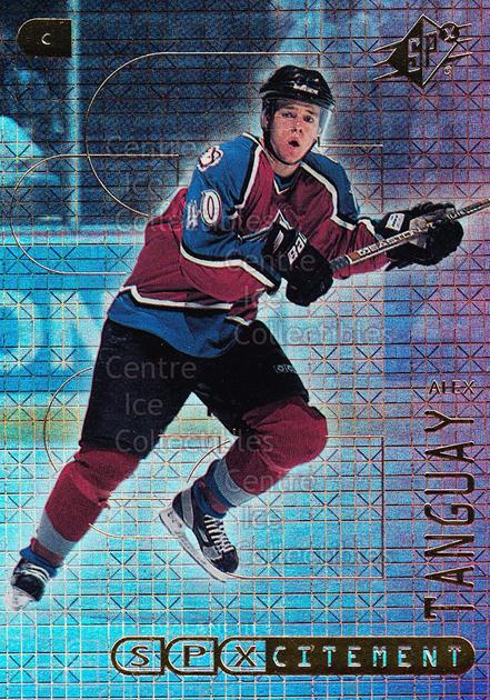 1999-00 SPx SPXcitement #13 Alex Tanguay<br/>22 In Stock - $2.00 each - <a href=https://centericecollectibles.foxycart.com/cart?name=1999-00%20SPx%20SPXcitement%20%2313%20Alex%20Tanguay...&quantity_max=22&price=$2.00&code=80157 class=foxycart> Buy it now! </a>
