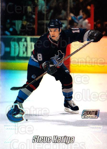 1999-00 Stadium Club Chrome Refractors #47 Steve Kariya<br/>2 In Stock - $5.00 each - <a href=https://centericecollectibles.foxycart.com/cart?name=1999-00%20Stadium%20Club%20Chrome%20Refractors%20%2347%20Steve%20Kariya...&quantity_max=2&price=$5.00&code=80364 class=foxycart> Buy it now! </a>