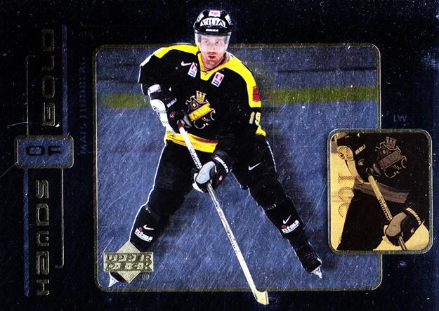 1999-00 Swedish Upper Deck Hands of Gold #1 Mats Lindberg<br/>4 In Stock - $3.00 each - <a href=https://centericecollectibles.foxycart.com/cart?name=1999-00%20Swedish%20Upper%20Deck%20Hands%20of%20Gold%20%231%20Mats%20Lindberg...&quantity_max=4&price=$3.00&code=80596 class=foxycart> Buy it now! </a>