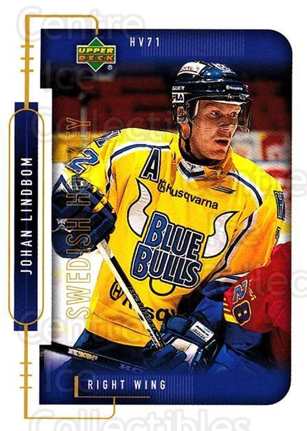 1999-00 Swedish Upper Deck #102 Johan Lindbom<br/>7 In Stock - $2.00 each - <a href=https://centericecollectibles.foxycart.com/cart?name=1999-00%20Swedish%20Upper%20Deck%20%23102%20Johan%20Lindbom...&quantity_max=7&price=$2.00&code=80616 class=foxycart> Buy it now! </a>