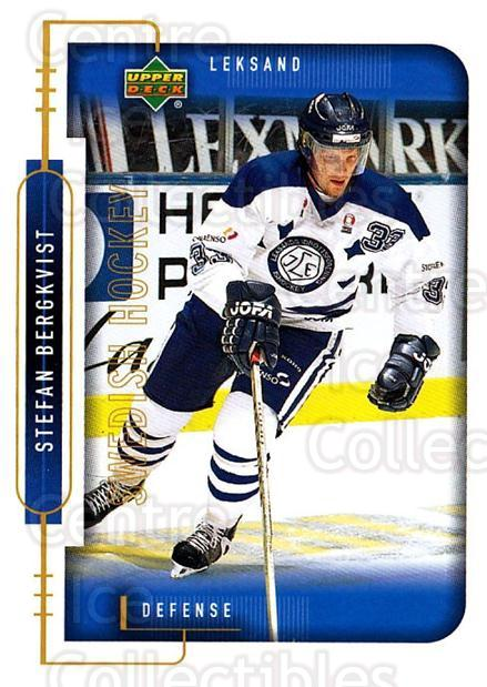 1999-00 Swedish Upper Deck #108 Stefan Bergkvist<br/>5 In Stock - $2.00 each - <a href=https://centericecollectibles.foxycart.com/cart?name=1999-00%20Swedish%20Upper%20Deck%20%23108%20Stefan%20Bergkvis...&quantity_max=5&price=$2.00&code=80621 class=foxycart> Buy it now! </a>