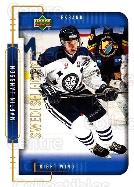 1999-00 Swedish Upper Deck #111 Martin Jansson<br/>9 In Stock - $2.00 each - <a href=https://centericecollectibles.foxycart.com/cart?name=1999-00%20Swedish%20Upper%20Deck%20%23111%20Martin%20Jansson...&quantity_max=9&price=$2.00&code=80625 class=foxycart> Buy it now! </a>