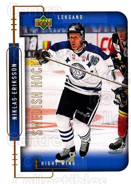 1999-00 Swedish Upper Deck #113 Niklas Eriksson<br/>8 In Stock - $2.00 each - <a href=https://centericecollectibles.foxycart.com/cart?name=1999-00%20Swedish%20Upper%20Deck%20%23113%20Niklas%20Eriksson...&quantity_max=8&price=$2.00&code=80627 class=foxycart> Buy it now! </a>