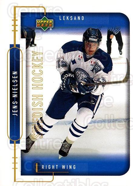 1999-00 Swedish Upper Deck #115 Jens Nielsen<br/>7 In Stock - $2.00 each - <a href=https://centericecollectibles.foxycart.com/cart?name=1999-00%20Swedish%20Upper%20Deck%20%23115%20Jens%20Nielsen...&quantity_max=7&price=$2.00&code=80629 class=foxycart> Buy it now! </a>