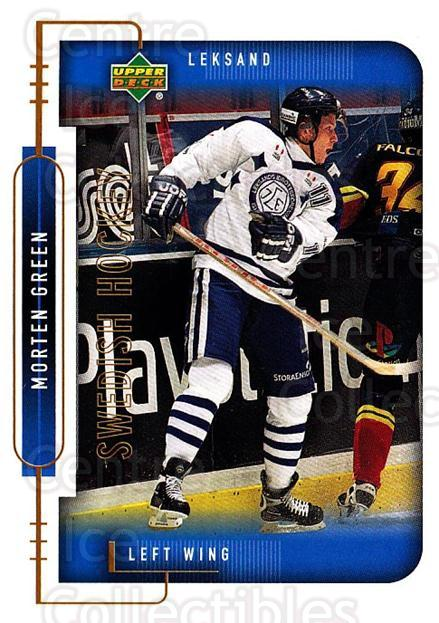 1999-00 Swedish Upper Deck #116 Morten Green<br/>4 In Stock - $2.00 each - <a href=https://centericecollectibles.foxycart.com/cart?name=1999-00%20Swedish%20Upper%20Deck%20%23116%20Morten%20Green...&quantity_max=4&price=$2.00&code=80630 class=foxycart> Buy it now! </a>