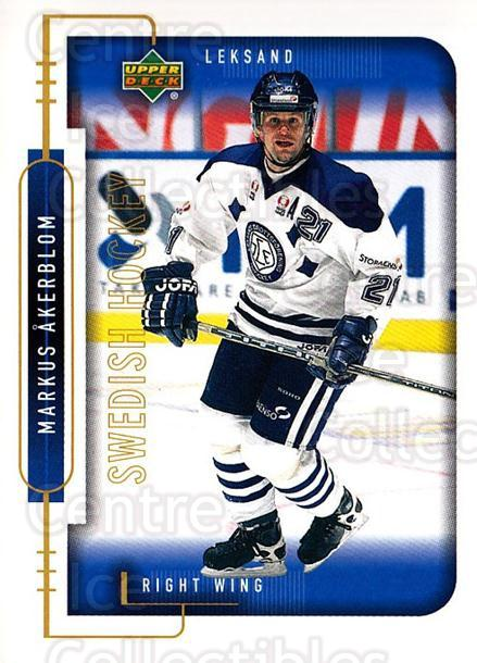 1999-00 Swedish Upper Deck #117 Markus Akerblom<br/>5 In Stock - $2.00 each - <a href=https://centericecollectibles.foxycart.com/cart?name=1999-00%20Swedish%20Upper%20Deck%20%23117%20Markus%20Akerblom...&quantity_max=5&price=$2.00&code=80631 class=foxycart> Buy it now! </a>