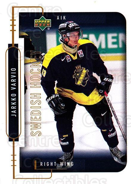 1999-00 Swedish Upper Deck #12 Jarkko Varvio<br/>11 In Stock - $2.00 each - <a href=https://centericecollectibles.foxycart.com/cart?name=1999-00%20Swedish%20Upper%20Deck%20%2312%20Jarkko%20Varvio...&quantity_max=11&price=$2.00&code=80634 class=foxycart> Buy it now! </a>