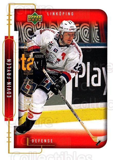 1999-00 Swedish Upper Deck #120 Edvin Frylen<br/>9 In Stock - $2.00 each - <a href=https://centericecollectibles.foxycart.com/cart?name=1999-00%20Swedish%20Upper%20Deck%20%23120%20Edvin%20Frylen...&quantity_max=9&price=$2.00&code=80635 class=foxycart> Buy it now! </a>