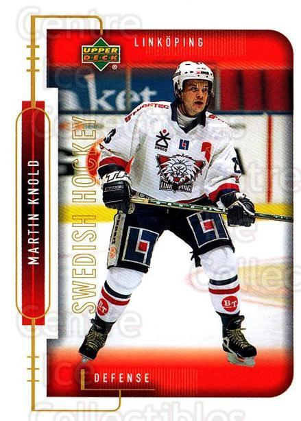 1999-00 Swedish Upper Deck #121 Martin Knold<br/>7 In Stock - $2.00 each - <a href=https://centericecollectibles.foxycart.com/cart?name=1999-00%20Swedish%20Upper%20Deck%20%23121%20Martin%20Knold...&quantity_max=7&price=$2.00&code=80636 class=foxycart> Buy it now! </a>