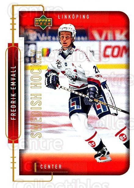 1999-00 Swedish Upper Deck #129 Fredrik Emvall<br/>9 In Stock - $2.00 each - <a href=https://centericecollectibles.foxycart.com/cart?name=1999-00%20Swedish%20Upper%20Deck%20%23129%20Fredrik%20Emvall...&quantity_max=9&price=$2.00&code=80644 class=foxycart> Buy it now! </a>