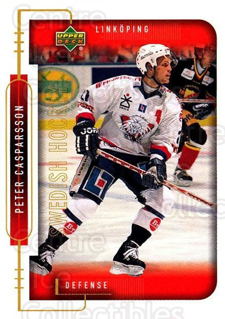 1999-00 Swedish Upper Deck #130 Peter Casparsson<br/>3 In Stock - $2.00 each - <a href=https://centericecollectibles.foxycart.com/cart?name=1999-00%20Swedish%20Upper%20Deck%20%23130%20Peter%20Casparsso...&quantity_max=3&price=$2.00&code=80646 class=foxycart> Buy it now! </a>