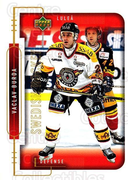 1999-00 Swedish Upper Deck #136 Vaclav Burda<br/>2 In Stock - $2.00 each - <a href=https://centericecollectibles.foxycart.com/cart?name=1999-00%20Swedish%20Upper%20Deck%20%23136%20Vaclav%20Burda...&quantity_max=2&price=$2.00&code=80651 class=foxycart> Buy it now! </a>