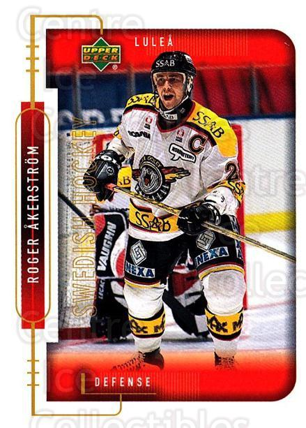 1999-00 Swedish Upper Deck #139 Roger Akerstrom<br/>7 In Stock - $2.00 each - <a href=https://centericecollectibles.foxycart.com/cart?name=1999-00%20Swedish%20Upper%20Deck%20%23139%20Roger%20Akerstrom...&quantity_max=7&price=$2.00&code=80654 class=foxycart> Buy it now! </a>
