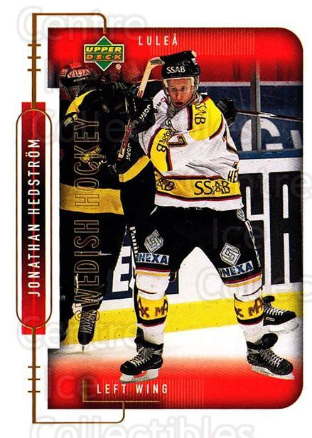 1999-00 Swedish Upper Deck #142 Jonathan Hedstrom<br/>2 In Stock - $2.00 each - <a href=https://centericecollectibles.foxycart.com/cart?name=1999-00%20Swedish%20Upper%20Deck%20%23142%20Jonathan%20Hedstr...&quantity_max=2&price=$2.00&code=80658 class=foxycart> Buy it now! </a>