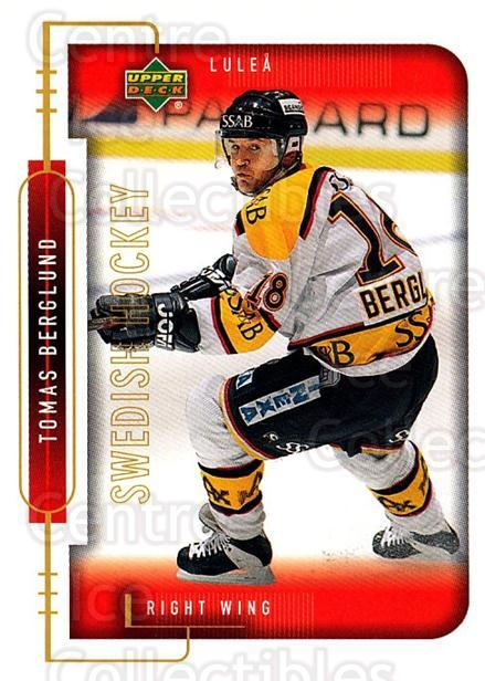 1999-00 Swedish Upper Deck #143 Tomas Berglund<br/>8 In Stock - $2.00 each - <a href=https://centericecollectibles.foxycart.com/cart?name=1999-00%20Swedish%20Upper%20Deck%20%23143%20Tomas%20Berglund...&quantity_max=8&price=$2.00&code=80659 class=foxycart> Buy it now! </a>