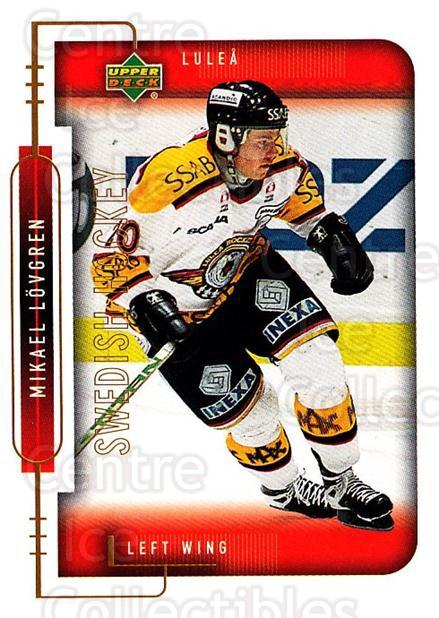 1999-00 Swedish Upper Deck #144 Mikael Lovgren<br/>8 In Stock - $2.00 each - <a href=https://centericecollectibles.foxycart.com/cart?name=1999-00%20Swedish%20Upper%20Deck%20%23144%20Mikael%20Lovgren...&quantity_max=8&price=$2.00&code=80660 class=foxycart> Buy it now! </a>