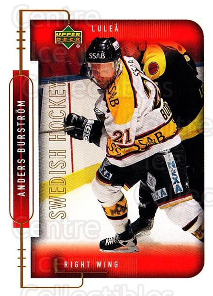 1999-00 Swedish Upper Deck #145 Anders Burstrom<br/>7 In Stock - $2.00 each - <a href=https://centericecollectibles.foxycart.com/cart?name=1999-00%20Swedish%20Upper%20Deck%20%23145%20Anders%20Burstrom...&quantity_max=7&price=$2.00&code=80661 class=foxycart> Buy it now! </a>