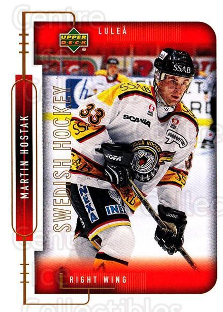 1999-00 Swedish Upper Deck #147 Martin Hostak<br/>5 In Stock - $2.00 each - <a href=https://centericecollectibles.foxycart.com/cart?name=1999-00%20Swedish%20Upper%20Deck%20%23147%20Martin%20Hostak...&quantity_max=5&price=$2.00&code=80663 class=foxycart> Buy it now! </a>