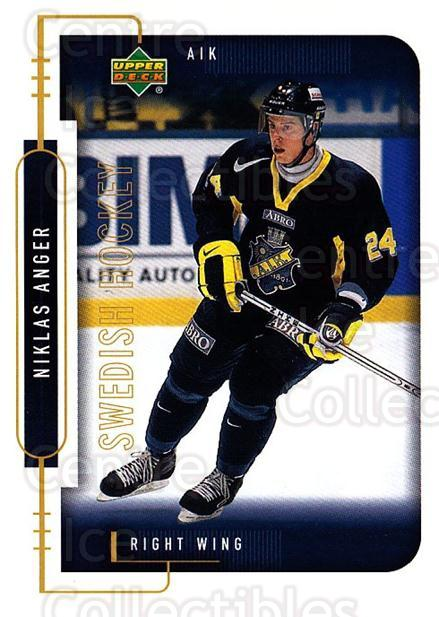 1999-00 Swedish Upper Deck #15 Niklas Anger<br/>7 In Stock - $2.00 each - <a href=https://centericecollectibles.foxycart.com/cart?name=1999-00%20Swedish%20Upper%20Deck%20%2315%20Niklas%20Anger...&quantity_max=7&price=$2.00&code=80666 class=foxycart> Buy it now! </a>