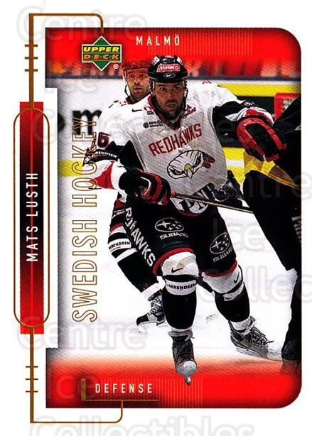 1999-00 Swedish Upper Deck #153 Mats Lusth<br/>6 In Stock - $2.00 each - <a href=https://centericecollectibles.foxycart.com/cart?name=1999-00%20Swedish%20Upper%20Deck%20%23153%20Mats%20Lusth...&quantity_max=6&price=$2.00&code=80670 class=foxycart> Buy it now! </a>