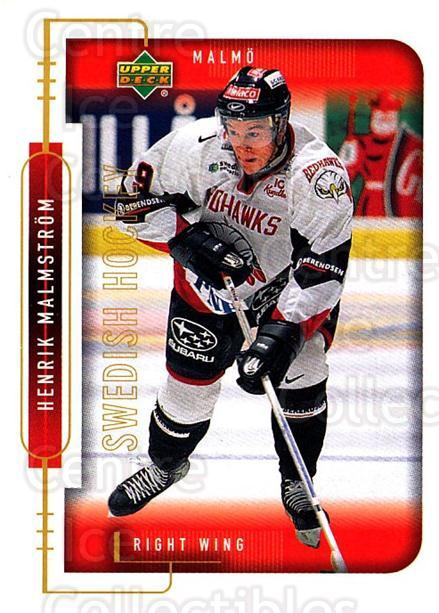 1999-00 Swedish Upper Deck #156 Henrik Malmstrom<br/>8 In Stock - $2.00 each - <a href=https://centericecollectibles.foxycart.com/cart?name=1999-00%20Swedish%20Upper%20Deck%20%23156%20Henrik%20Malmstro...&quantity_max=8&price=$2.00&code=80672 class=foxycart> Buy it now! </a>