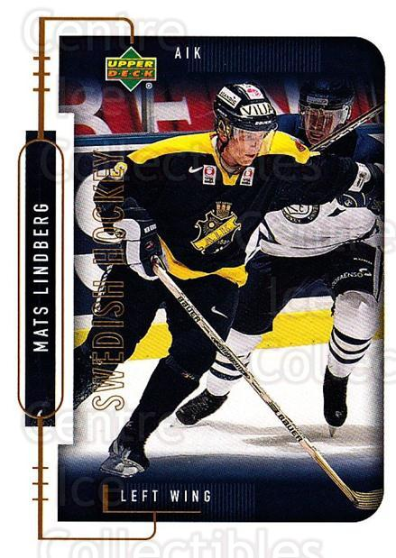 1999-00 Swedish Upper Deck #16 Mats Lindberg<br/>7 In Stock - $2.00 each - <a href=https://centericecollectibles.foxycart.com/cart?name=1999-00%20Swedish%20Upper%20Deck%20%2316%20Mats%20Lindberg...&quantity_max=7&price=$2.00&code=80676 class=foxycart> Buy it now! </a>
